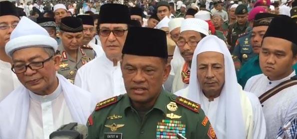 Panglima TNI: Hukum terhadap Penista Agama Dihiraukan, Dimobilisasi Seolah Isu SARA