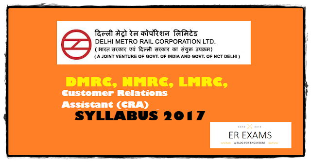 dmrc Customer Relations Assistant (CRA) syllabus