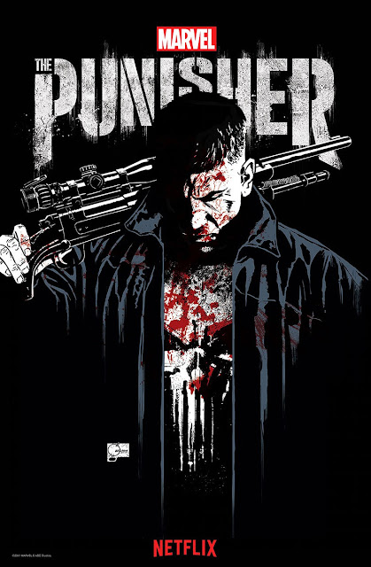San Diego Comic-Con 2017 Exclusive Marvel's The Punisher Season 1 Concept Art Poster by Joe Quesada