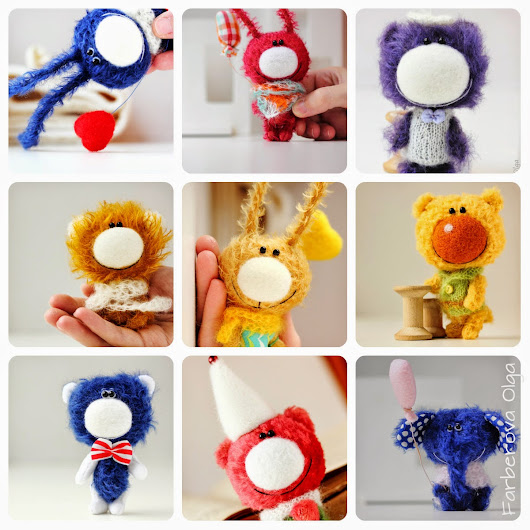 Teddy Bears and Friends by Farberova Olga: Collection 2014 - first part - miniature teddy