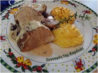 Ψαρονέφρι με κράνμπερις και γλυκό κρασί - by https://syntages-faghtwn.blogspot.gr