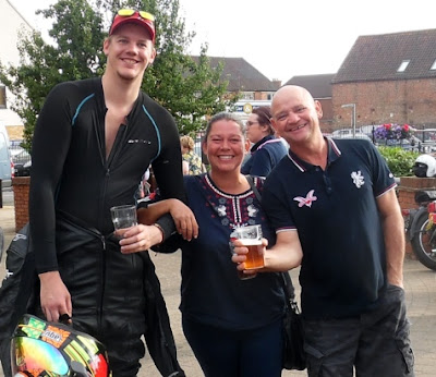 Picture: Raising a glass to the success of Brigg Bike Night 2018 near the Yarborough Hunt pub - see Nigel Fisher's Brigg Blog