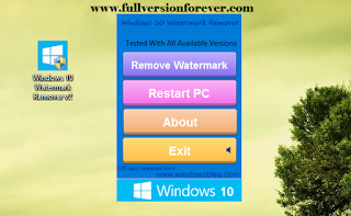 How to remove the build number watermark from Windows