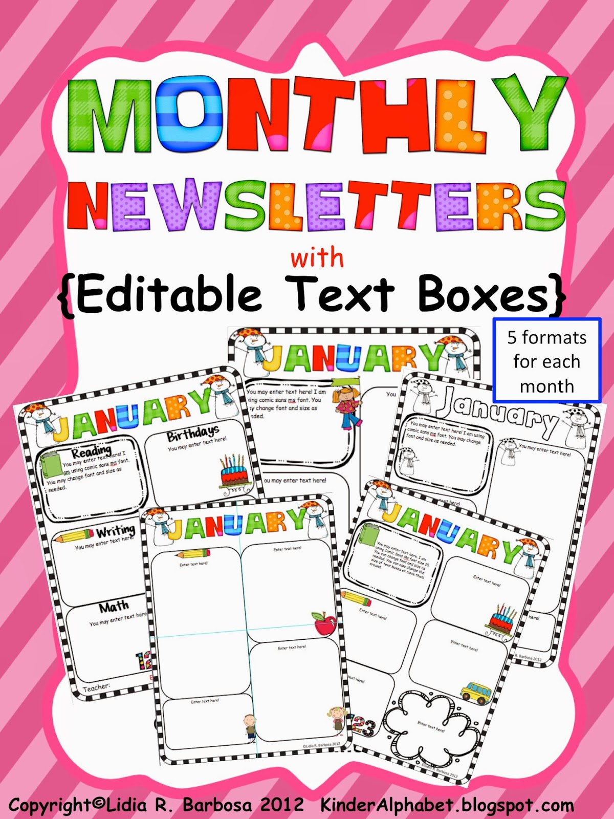 Free Pre K Monthly Newsletter Template on for company pdf, real estate, doc office, young women, printables for april, editable blank,