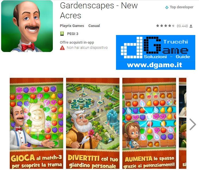 Soluzioni Gardenscapes - New Acres di tutti i livelli