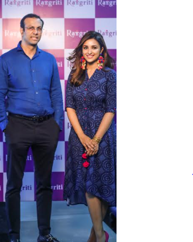 Rangriti Signs Bollywood Actor Parineeti Chopra as its brand ambassador