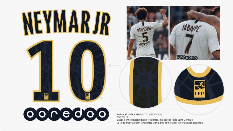 Football Teams Shirt And Kits Fan Updated Font Psg Away 2018 19