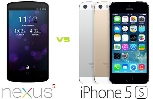 Google Nexus 5 vs iPhone 5S Specs Comparison