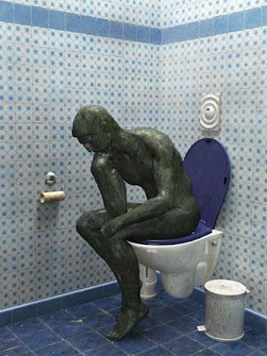 wc, inspiración, el pensador
