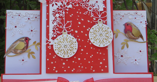 Nellys Crafty Card Attack: Cool it down! ; Christmas Robins