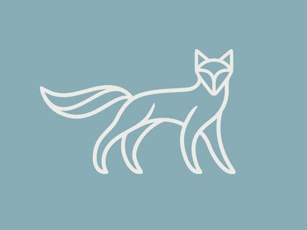 Inspirasi Desain Logo Monoline 2017 - Venn Fox Monoline Logo