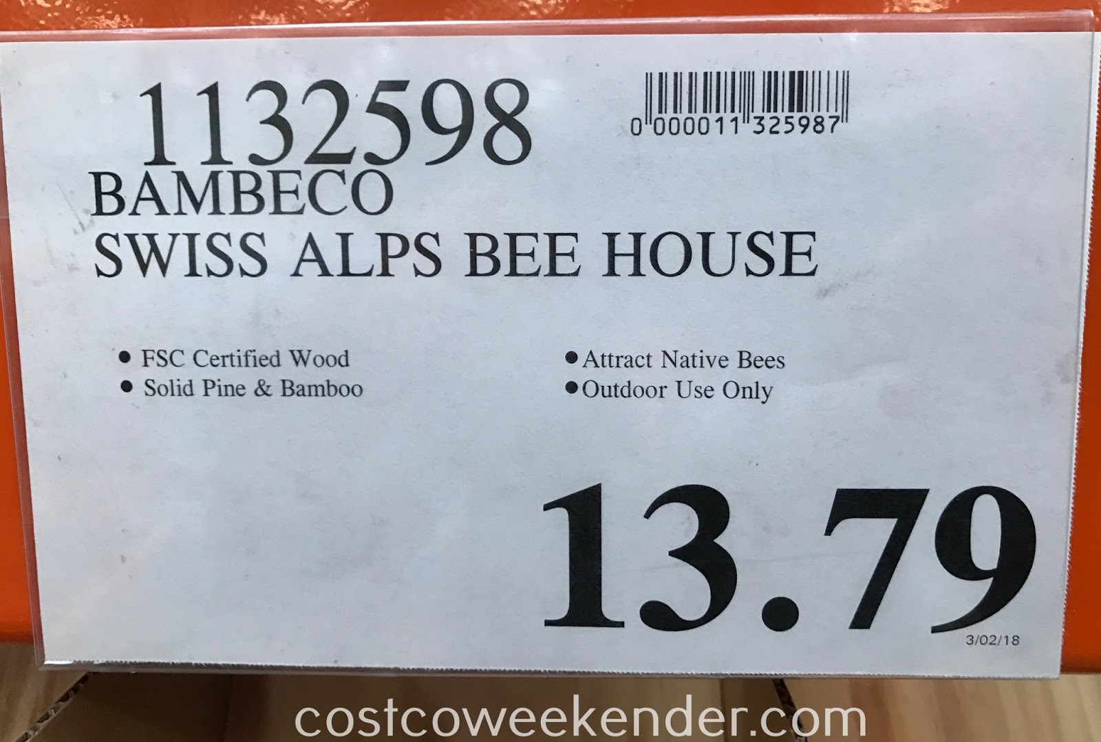 Deal for the Bambeco Swiss Alps Bee House at Costco