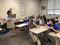 Montgomery Catholic 7th Graders Celebrate Pi Day 1