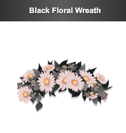 stardoll black floral wreath