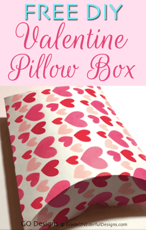 Pretty Valentine Printables: Free Pillow Box Hearts