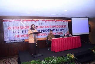 Kepala BKKBN Lampung Buka Penyuluhan Program Workshop
