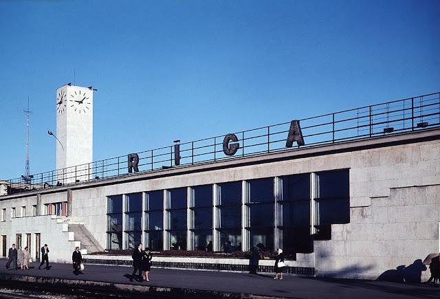 1965 год. Rīga. Centrālā dzelzceļa stacija