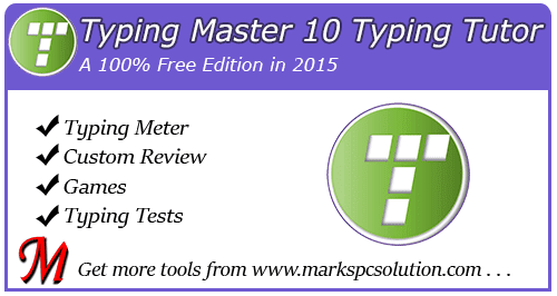 Typing Master 10 Full Free Edition 2015 !!! | Marks PC Solution