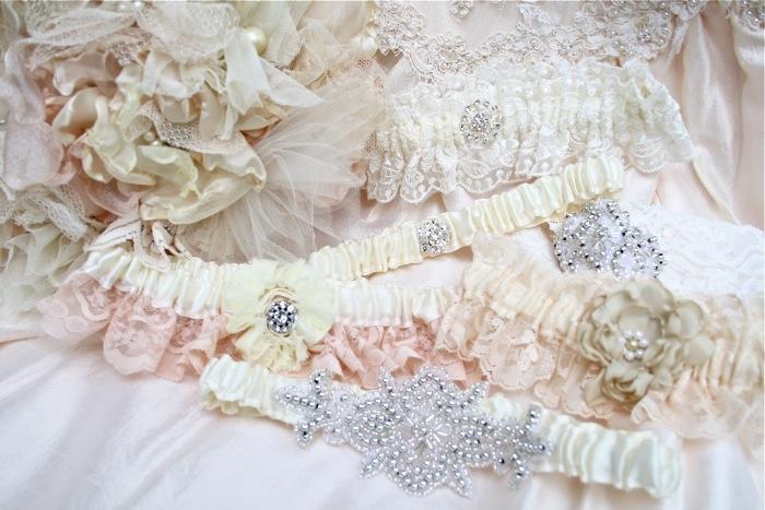 The Polka Dot Closet: Making Wedding Garters