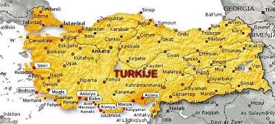 Tyrkiet Ferier Og Rejser Kort Tyrkiet