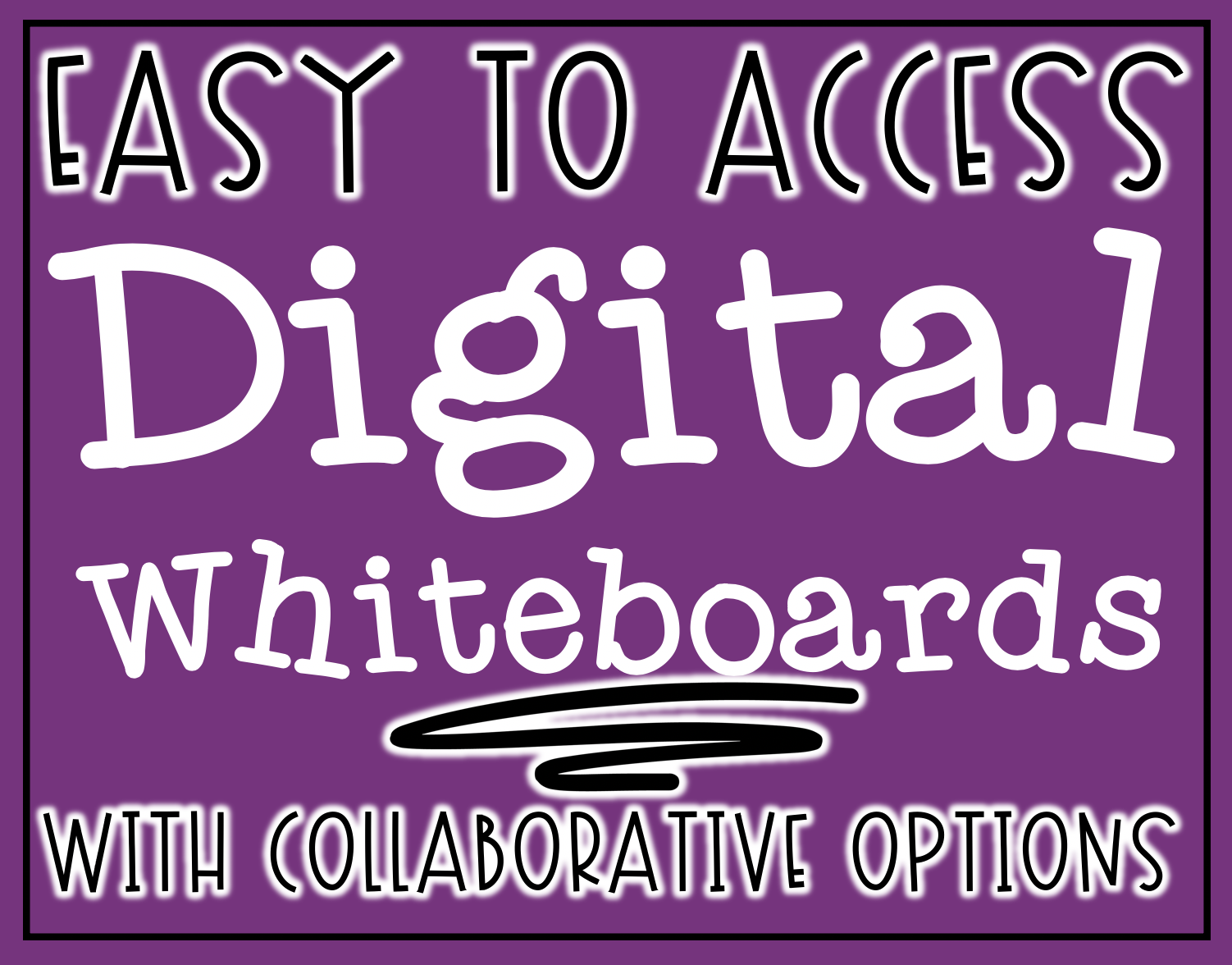 Easy to Access Digital Whiteboards with Collaborative Options