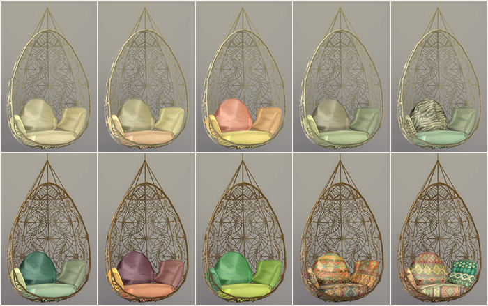 Hanging Chair The Sims 4 Outdoor High Chairs Babies My Blog Ts3 Wonderfully Woven Recolors By Labels Conversions