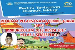 RPP KELAS 4 TEMA 3 SD/MI KURTILAS REVISI TAHUN PELAJARAN 2018 - 2019