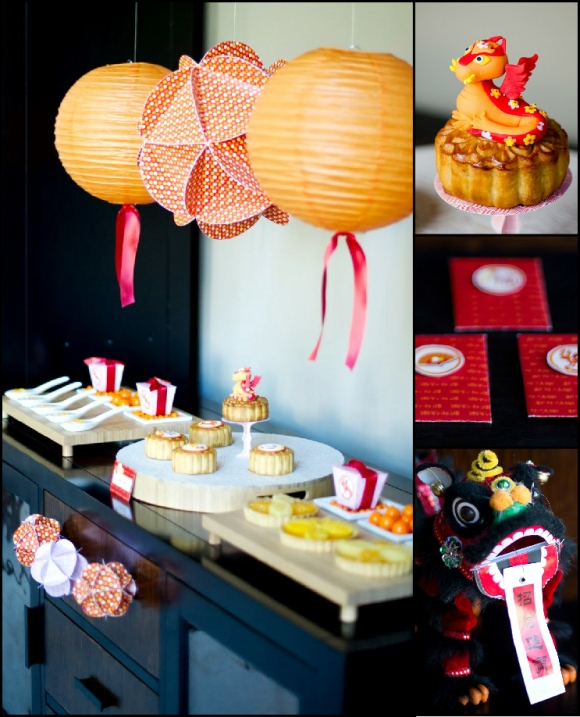 A chinese lunar new year party party ideas party for Chinese decorations
