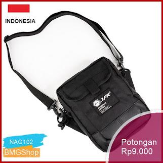 NAG102 Tas Pinggang Waist Bag Bahan Polyester Jt12 Hitam Bmgshop