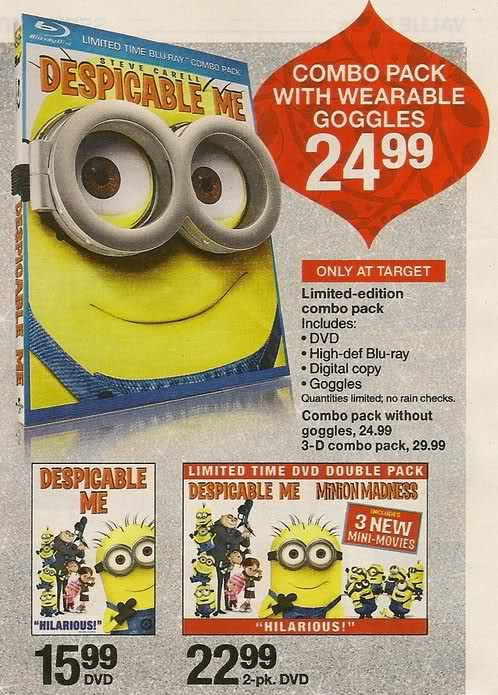 Blu-ray & DVD Exclusives: Despicable Me: Target Exclusive Goggles (BD)