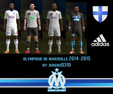 PES 2013 Olympique Marseille 14-15 Kits by JEREMZ0310