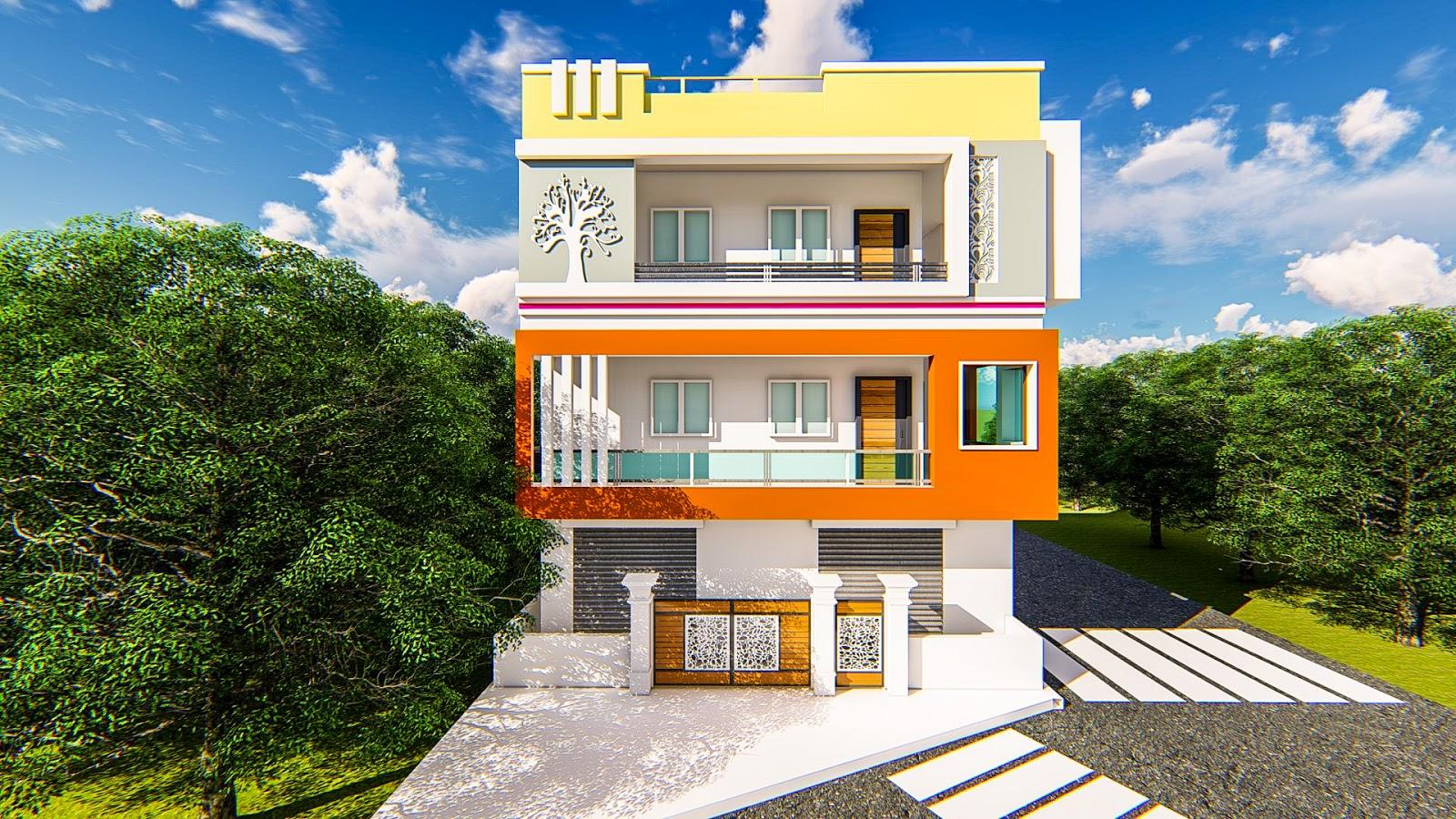 Home front elevation design