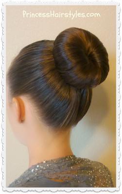 Easy dance bun hairstyle tutorial. Great for ballet, figure skating, gymnastics, etc.