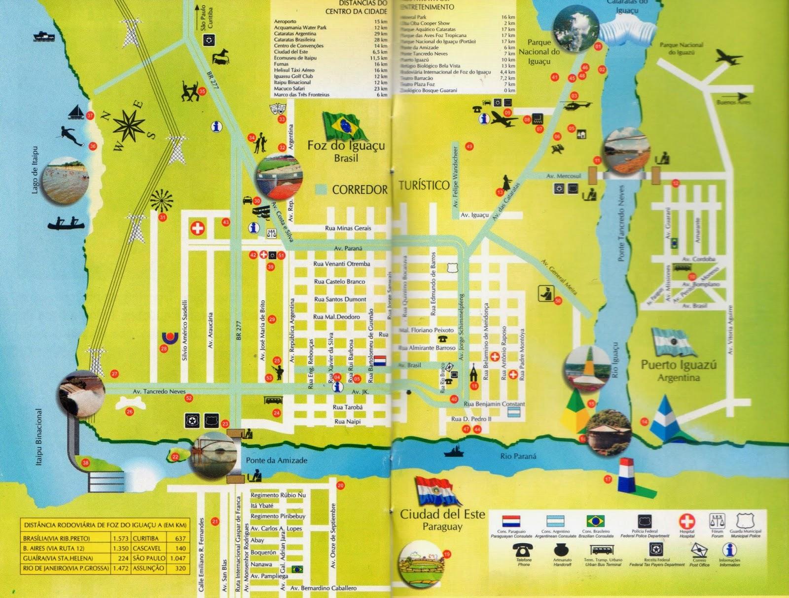 mapa de Foz do Iguaçú