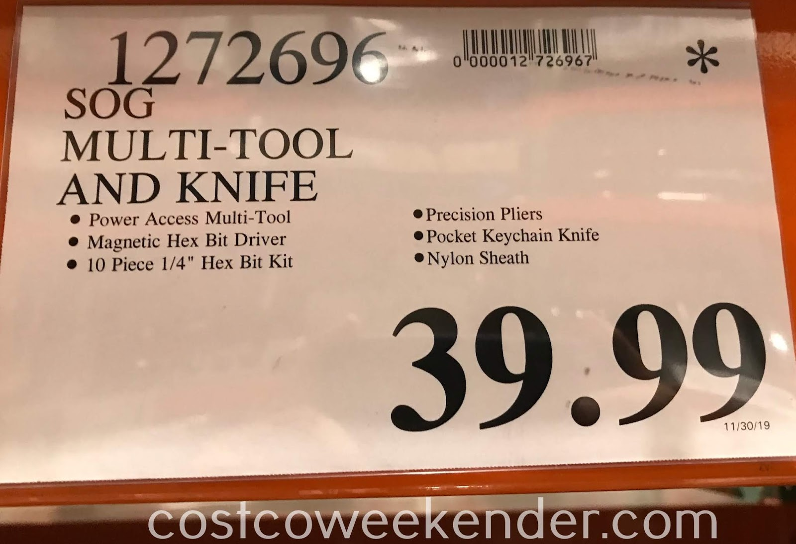 Deal for the SOG Multi-Tool and Knife at Costco