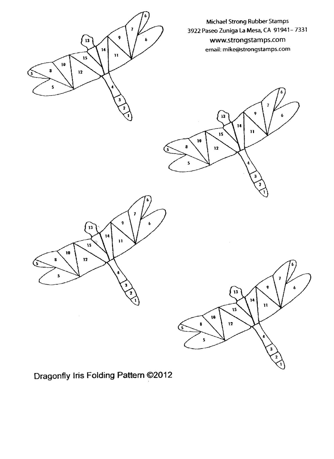 The Born Doodler: Dragonfly Iris Folding Pattern