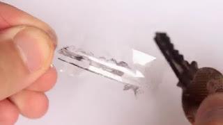 Kunci Duplikast dari Kaleng bekas minuman buatan sendiri