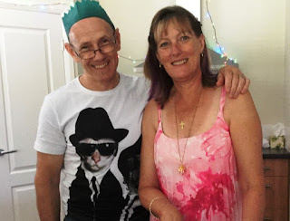 My lovely husband and me (don't you love his tee shirt?)