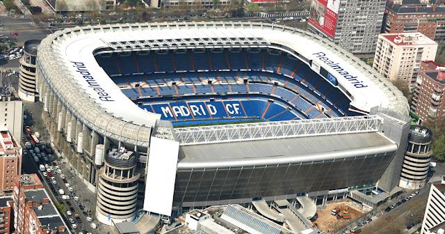 Estádio Santiago Bernabéu em Madri