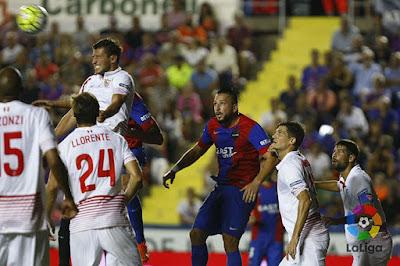 Crónica Levante UD 1 Vs Sevilla FC 1