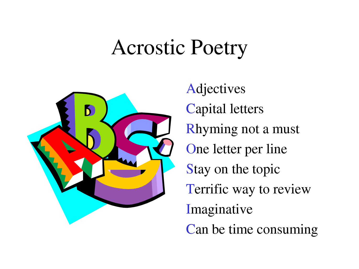 Acrostic Poem For Photosynthesis