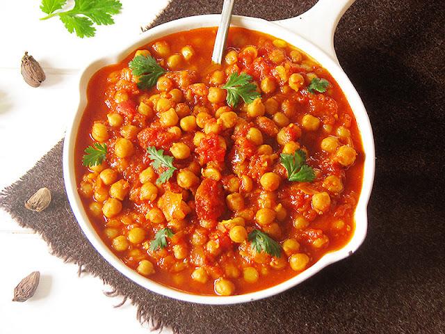 Recette végétarienne de curry indien - le carnet sur l'étagère