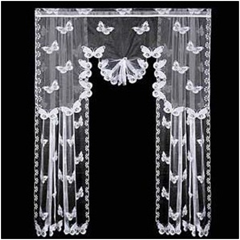Butterfly curtains decoration for women