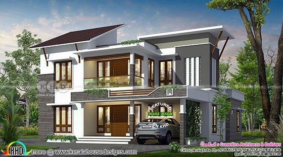 2622 sq-ft contemporary house with 4 bedrooms