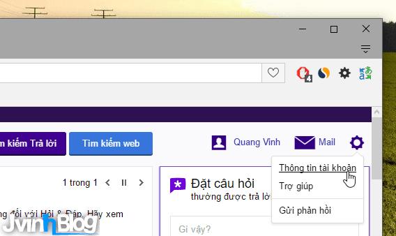 Thay đổi ảnh đại diện trên Yahoo Mail, Yahoo hỏi đáp