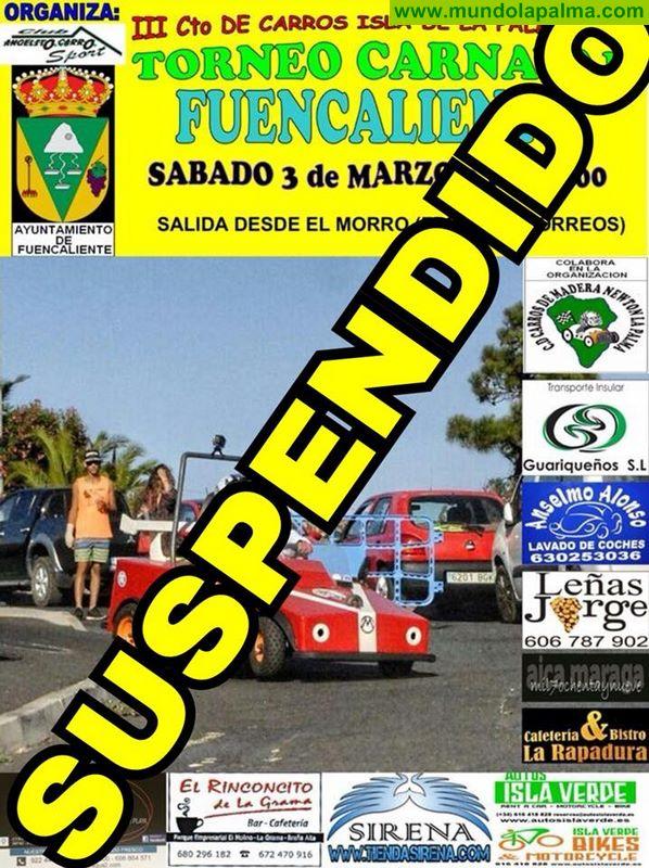 Fuencaliente suspende la carrera de carros de mañana
