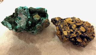 Tucson gem show azurite & malachite