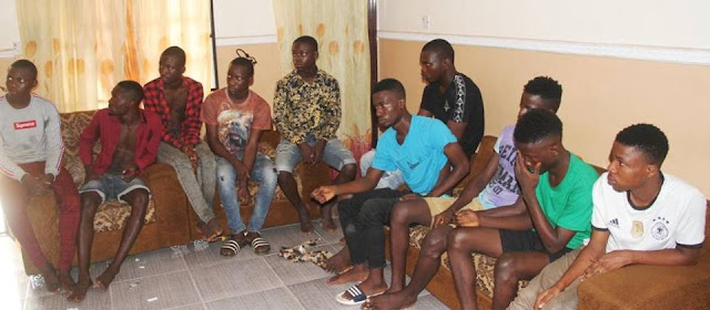 bbbb Ritualist Or Yahoo Boys? See What Was Recovered From These 15 Guys By Security Operatives (Photos)