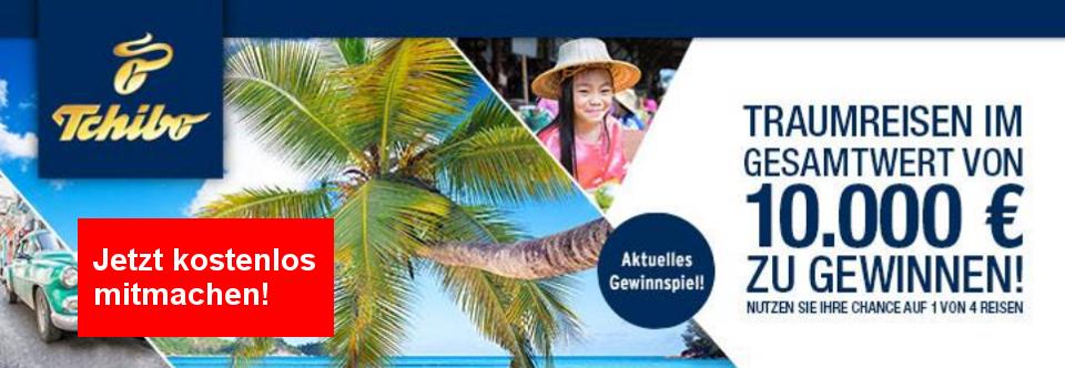 Gewinnen Sie mit Tchibo einen Reisegutscheiin im Wert von 2500,00 €