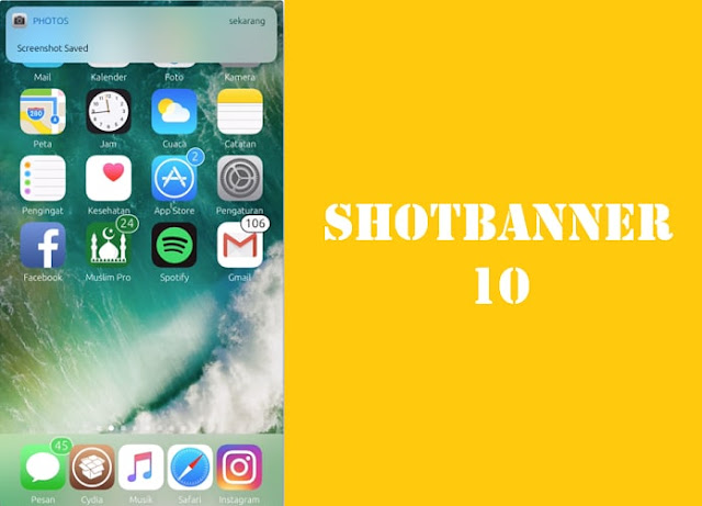 """A new tweak called """"ShotBanner 10"""" by the author """"pxcex"""" is available in Cydia which replaces the flash when you take an screenshot"""